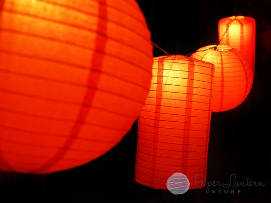 8 Quot Chinese New Year Round Amp Cylinder Paper Lantern String