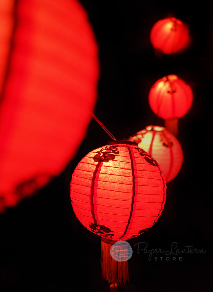 Who Sells String Lights Year Round : Chinese New Year Paper Lantern String Light Combo