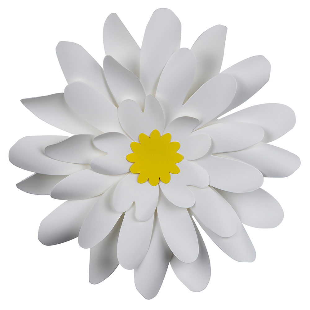 8 Pre Made White Daisy Paper Flower Wedding Backdrop Wall Decor 3d