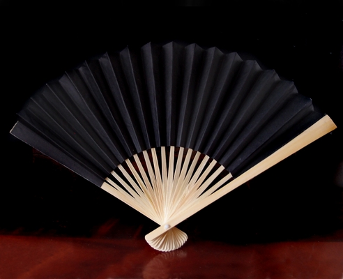 9 Quot Black Paper Hand Fans For Weddings 10 Pack On Sale Now