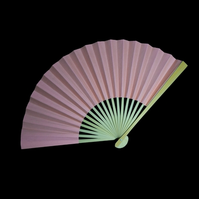 9 Quot Rose Quartz Paper Hand Fans For Weddings Premium Paper