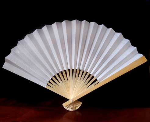 9 Quot White Paper Hand Fans For Weddings Premium Paper Stock
