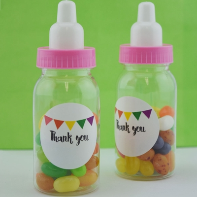 baby girl milk bottle candy favor gift container 4 4 in 12 pack