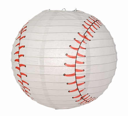 14 Inch Baseball Paper Lantern Shaped Sports Hanging