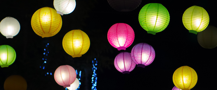 Led String Lights For Paper Lanterns : Battery Operated LED Paper Lanterns