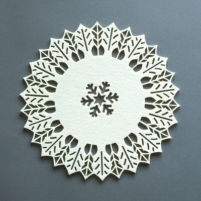 Beige Frozen Snowflake Christmas Holiday Party Felt Fabric Doily, 11 ...