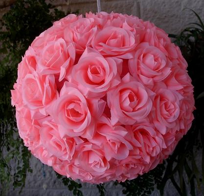 12 Inch Pink Rose Flower Ball Lantern From