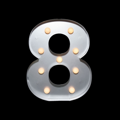 Marquee Light Number 8 Led Metal Sign 10 Inch Battery
