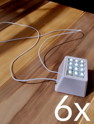 Moonbright Bulk Pack 6 12 Led Super Bright Cube Lights