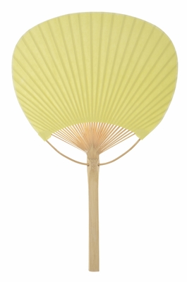 9 Quot Chartreuse Paddle Paper Hand Fan For Weddings On Sale