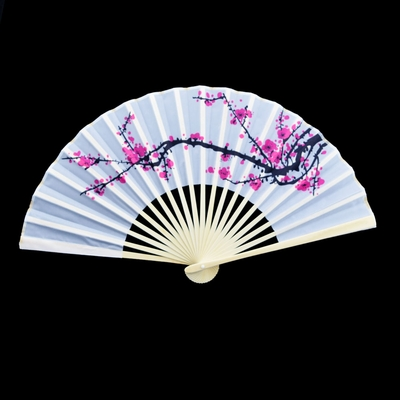 9 Inch Cherry Blossom Sakura Silk Hand Fans For Weddings