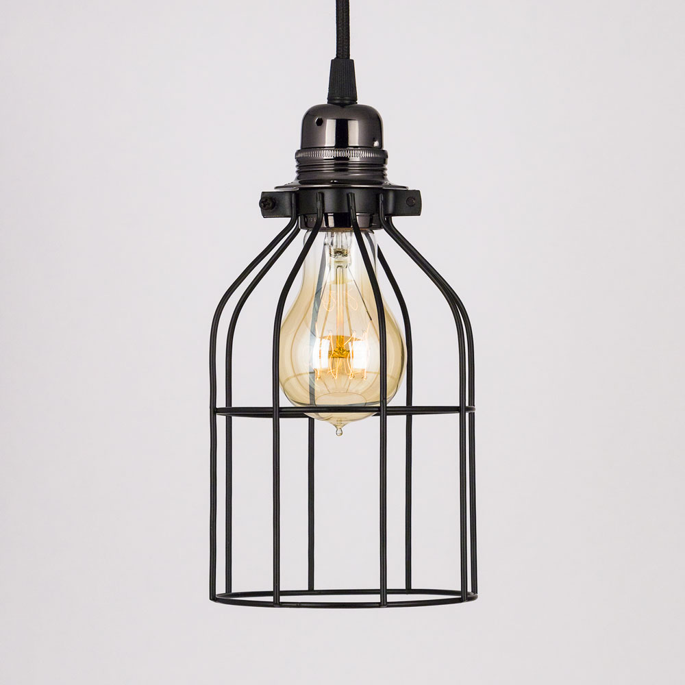 Clic Retro Pearl Black Pendant Light