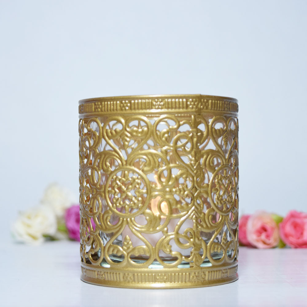 Decorative Tealight Candle Cup Holder Gold On Sale Now