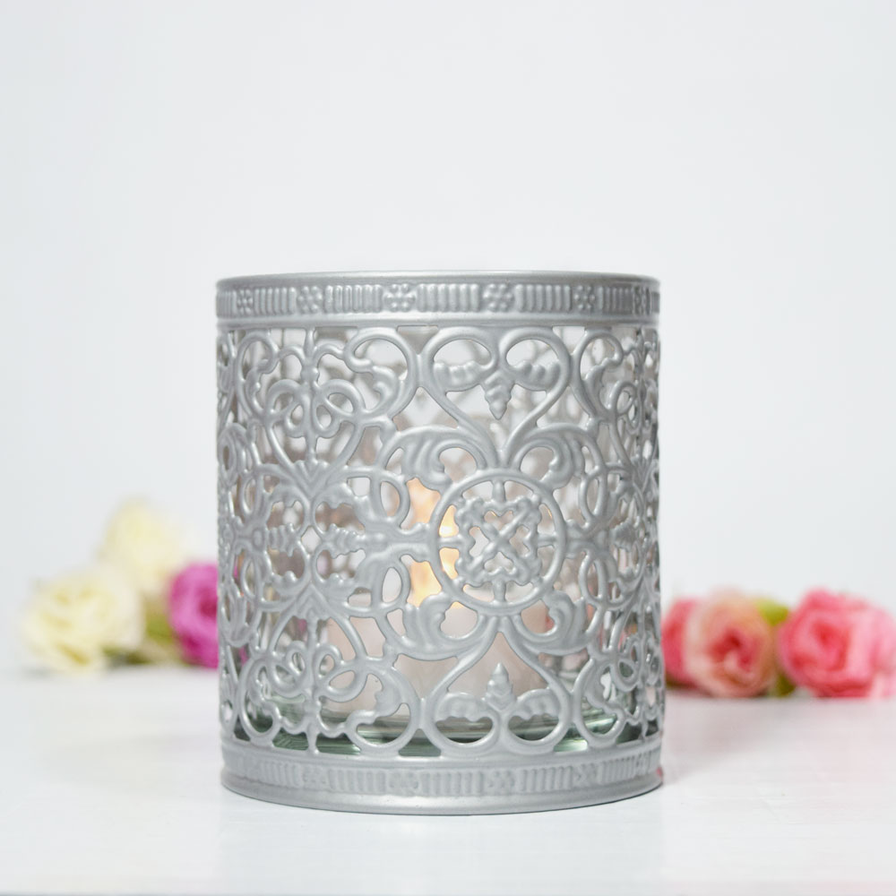 Decorative Tealight Candle Cup Holder Silver On Sale Now