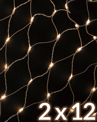 Extra Long Net Light 150 Frosted Bulb String Light, 2x12 FT White Cord, Weatherproof on Sale ...