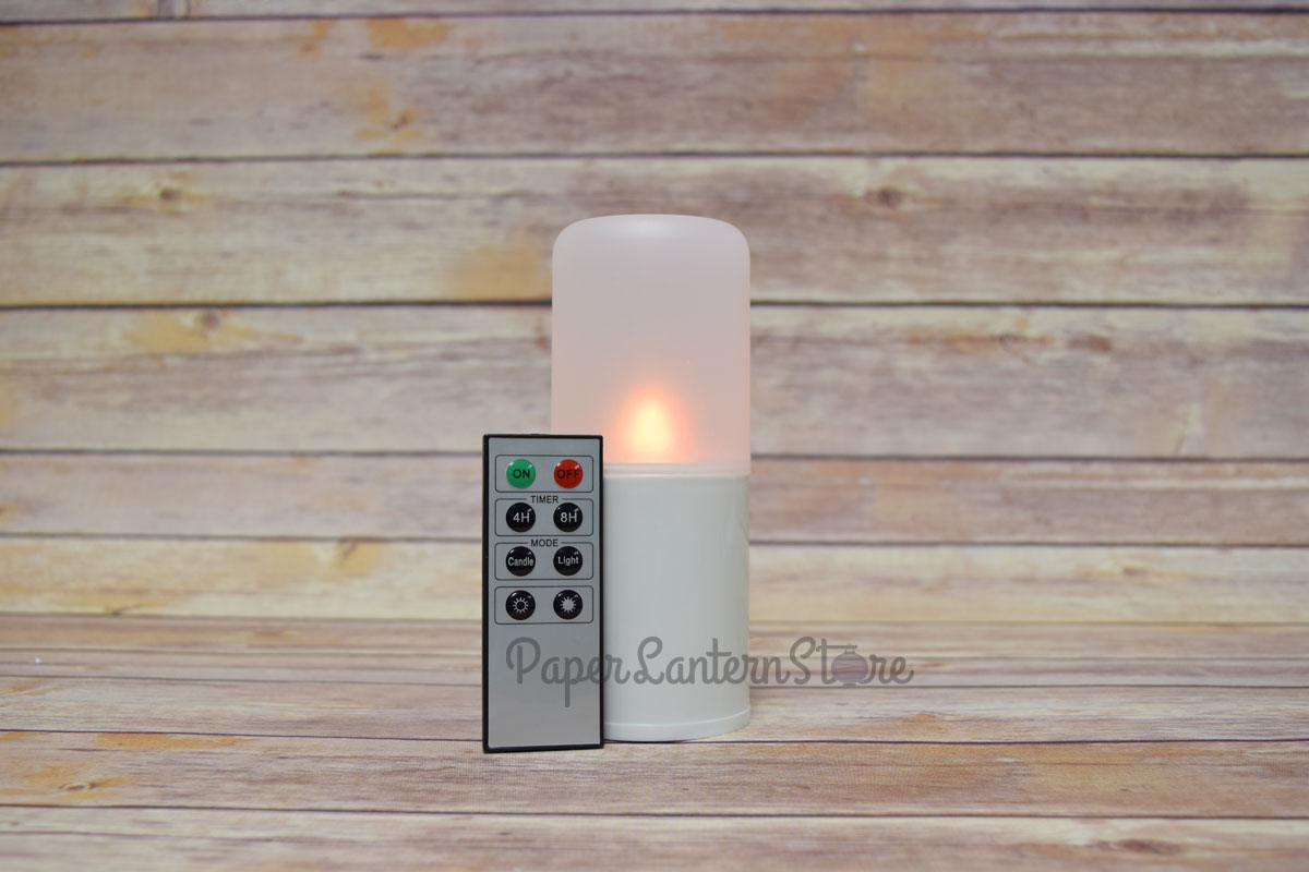 flameless led candle outdoor light with remote timer warm white ebay. Black Bedroom Furniture Sets. Home Design Ideas