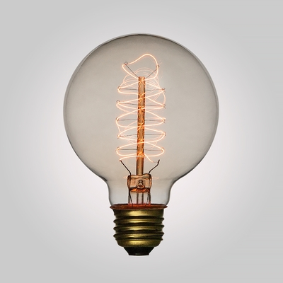 40-Watt Incandescent G95 Globe Vintage Edison Light Bulb ...
