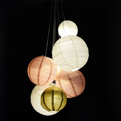 How to do your own wedding paper lantern chandelier - Paper lantern chandelier ...