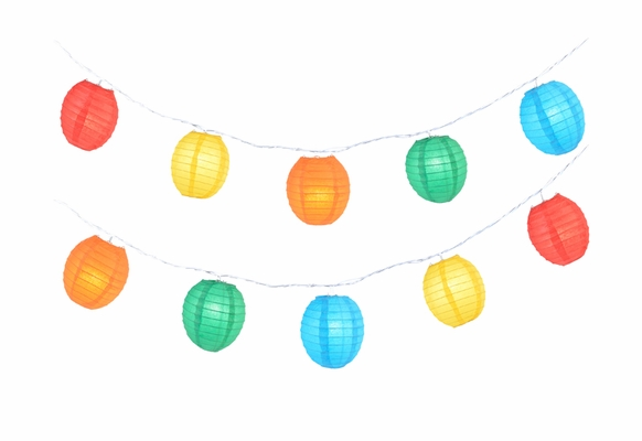 Multi-Color Kawaii Shaped Shaped Paper Lantern String String Lights (8FT, Expandable) on Sale ...
