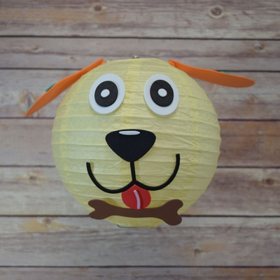 8 Inch Paper Lantern Animal Face Diy Kit Dog Kid Craft