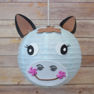 Blowout 8 paper lantern animal face diy kit horse for Horseshoe crafts for sale