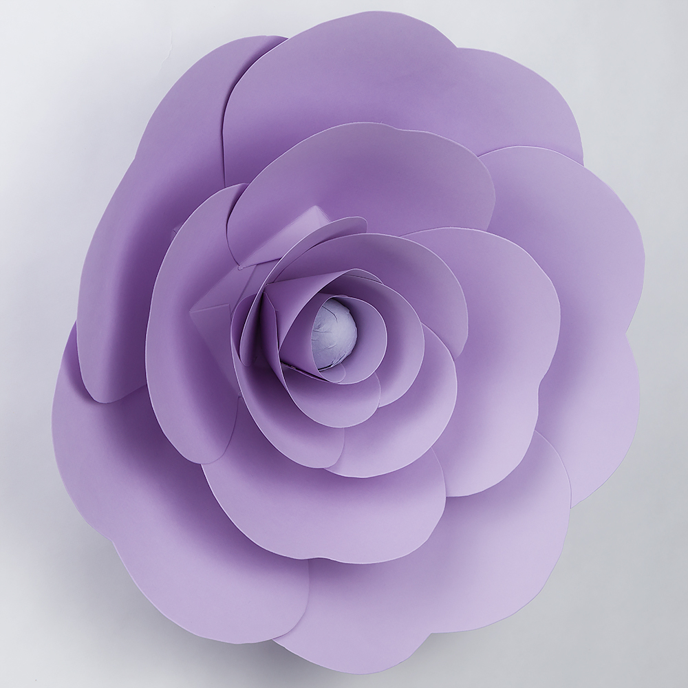 12 Pre Made Lavender Ranunculus Paper Flower Wedding Backdrop Wall