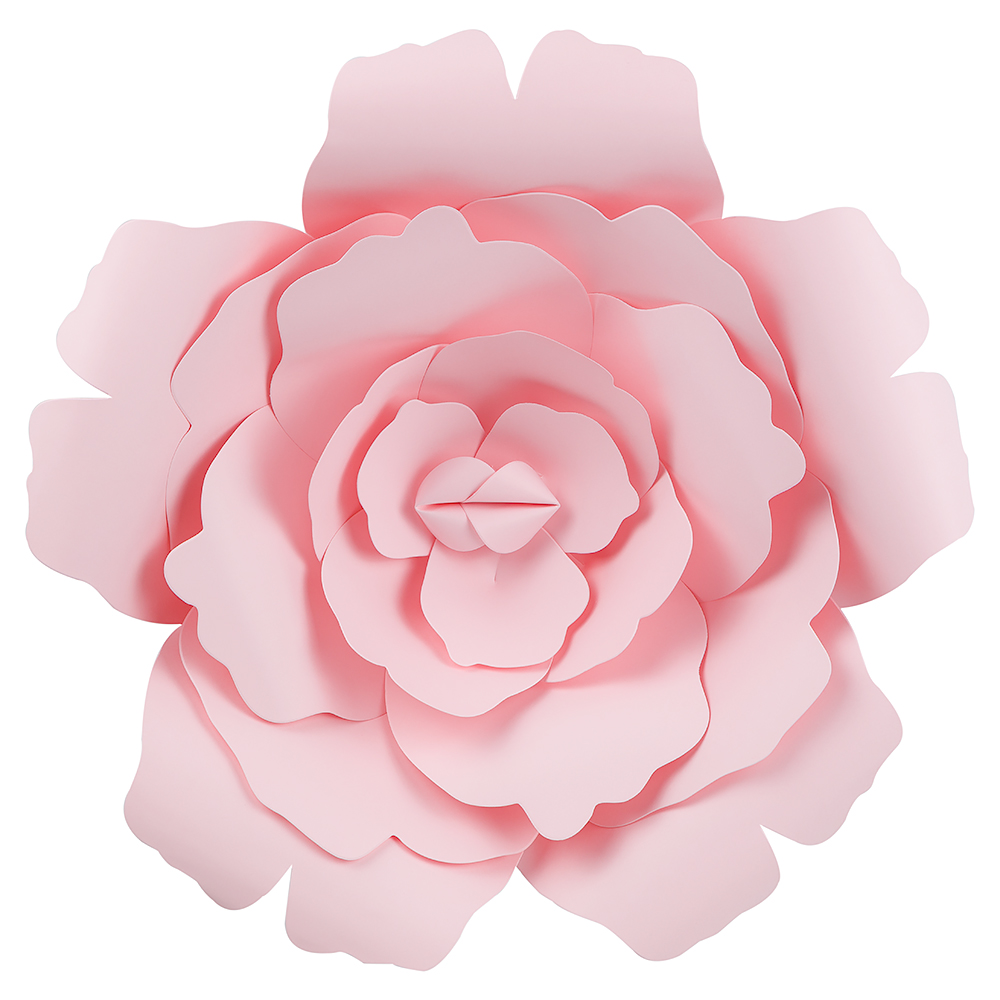 12 Pre Made Light Pink Rose Paper Flower Wedding Backdrop Wall