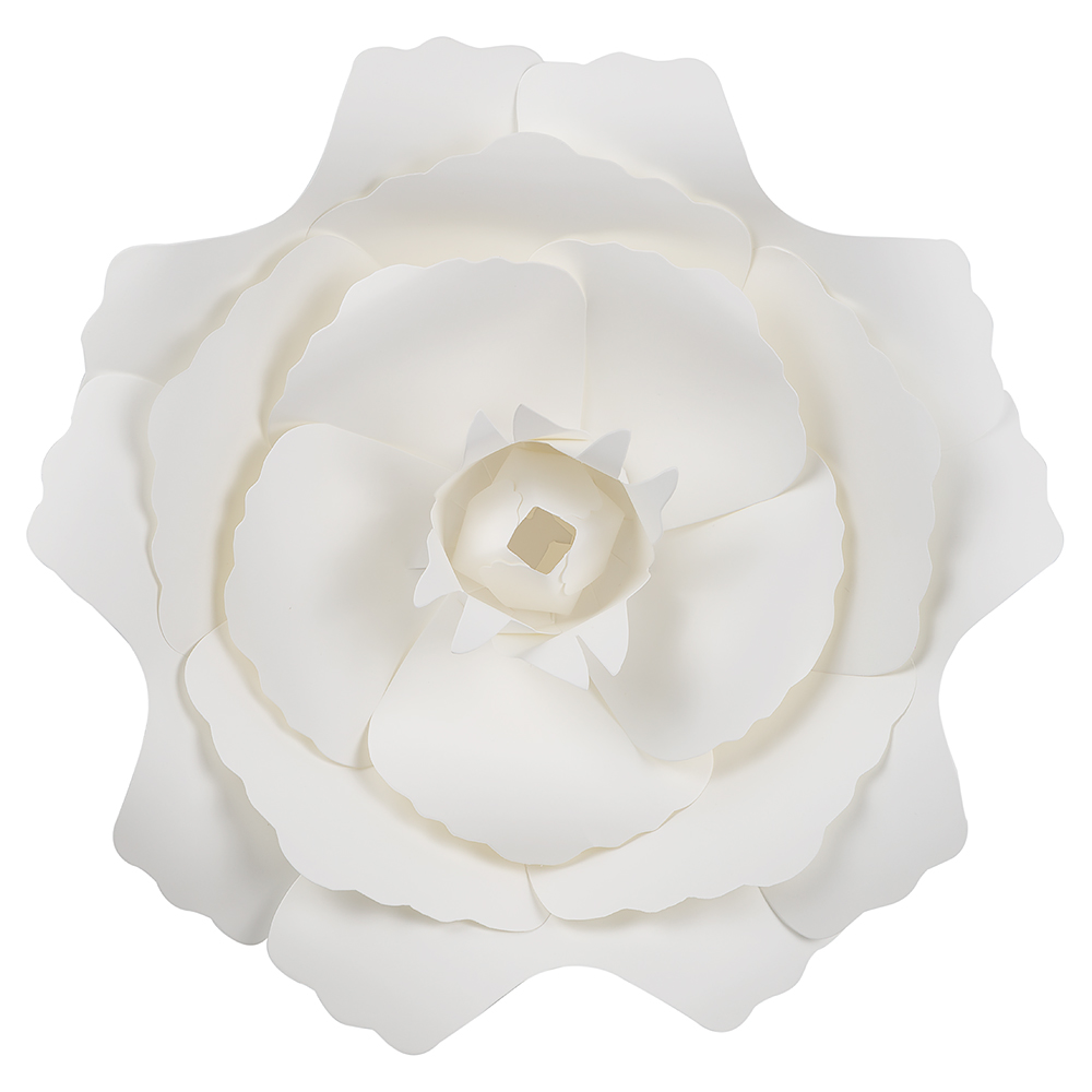 Large 12 Pre Made White Peony Paper Flower Wedding Backdrop Wall