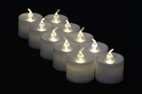 Large Warm White Led Battery Operated Flameless Candles