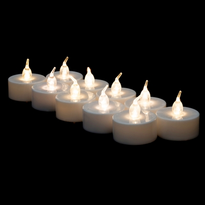 Led Battery Operated Flameless Tea Light Candles Warm