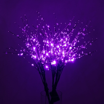 32 Quot Purple Led Light Up Branches Floral Decoration
