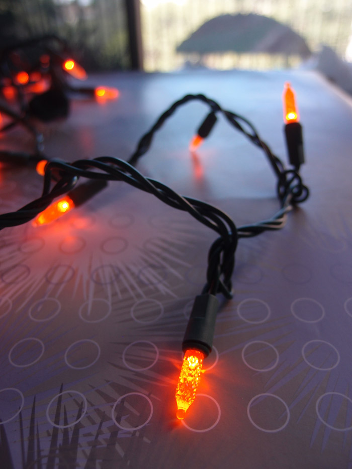 Led String Lights Orange : 70 Outdoor Orange LED M6 Mini String Lights, 23.6 FT Green Cord eBay