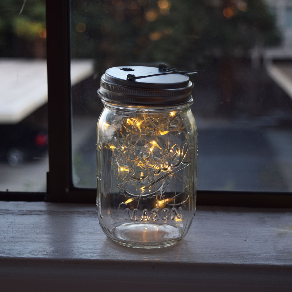Led Mason Jar Lights For Regular Mouth Warm White Lid