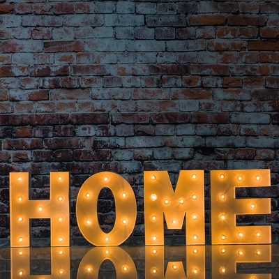White Marquee Light Home Led Metal Sign 8 Inch Battery