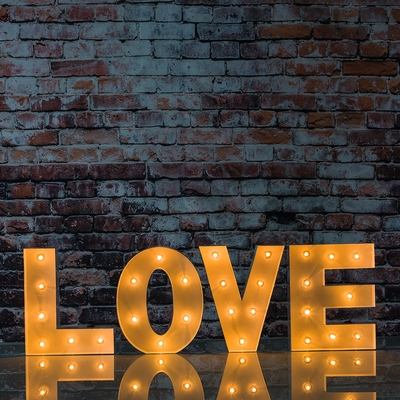White Marquee Light Love Led Metal Sign 8 Inch Battery