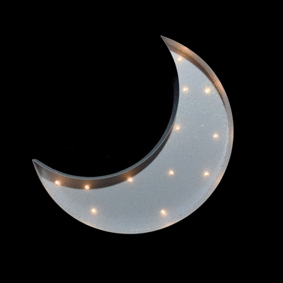 Marquee Light White Crescent Moon Shape Led Metal Sign