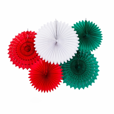 Mexican Flag Mexico Country Tissue Paper Flower Fan