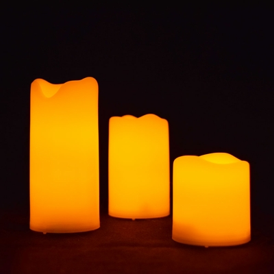 Mini Flameless Led Candle Light With Remote 3 Pack On