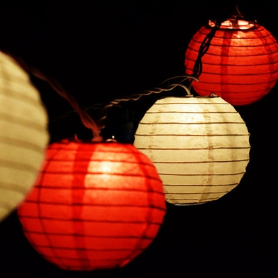 Paper Lantern String Lights Mini Lanterns