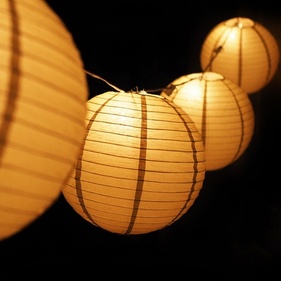 Chinese Lantern String Lights Outdoor : MoonBright 12