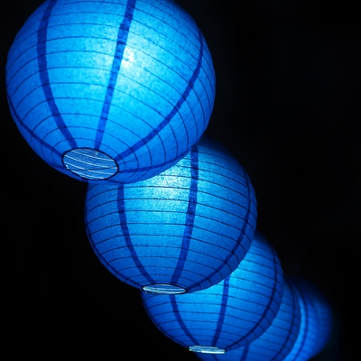 Moonbright 12 Quot Navy Blue Paper Lantern Remote Controlled