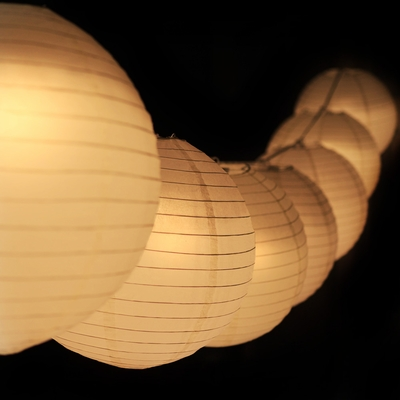 Moonbright 12 Quot Warm White Paper Lantern Remote Controlled