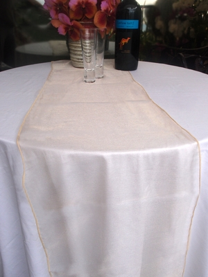 Organza Table Runner Champagne From Paperlanternstore At