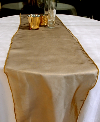 Organza Table Runner Gold From Paperlanternstore At The