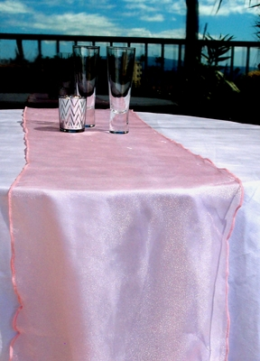Organza Table Runner Pink From Paperlanternstore At The