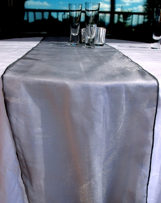 Organza Table Runner Silver From Paperlanternstore At