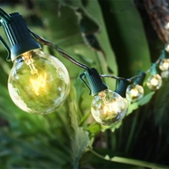 Hang Lanterns from Patio String Lights