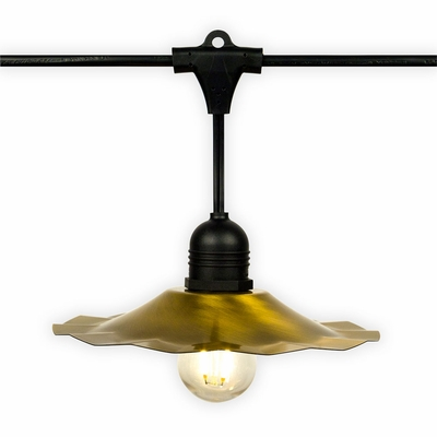 Patio Metal Light Bulb Shade For Outdoor Commercial String