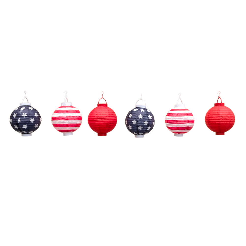 Patriotic 4th Of July Stars And Stripes Led Battery
