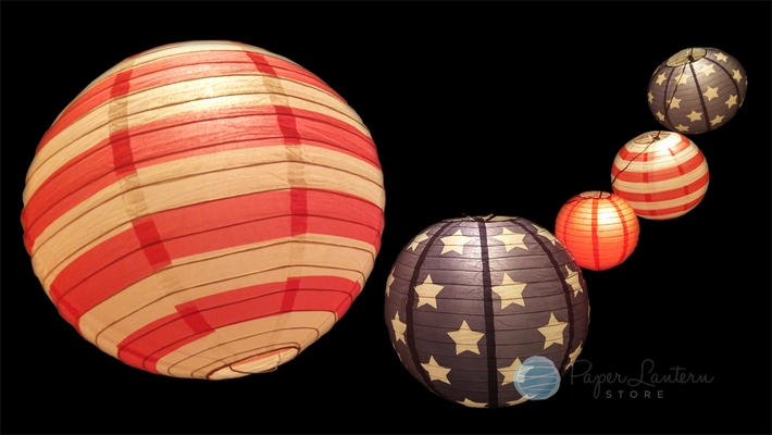 Patriotic 4th Of July Stars And Stripes Paper Lantern